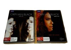 Orphan Black Dvd TV Series Season 1 & 2 Region 4 Action Drama MA15+ Free Post