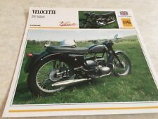 Fiche moto collection Atlas motorbike Velocette 200 Valiant 1956