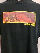 Linkin Park Vintage 2001 M & O Knits Hybrid Theory Concert Tour Tshirt Men's XL