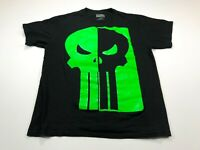 Marvel Comics Punisher Men's L Black Green Graphic Tee T-Shirt Skull Large