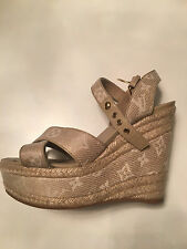 Louis Vuitton Tan Wedge heels 37 1/2- Only worn once