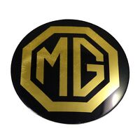 4 x Genuine Wheel Centre Cap Badges in Black/Gold For MG, MGB, MGB GT BHH1810B