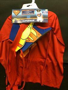 Superman - Halloween Dog Costume, M Pet Medium DC SuperHero Puppy Cosplay Outfit