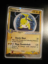EX Pokemon RAICHU EX Card SANDSTORM Set 98/100 Ultra Rare Holo TCG 100 HP