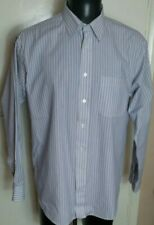Marks And Spencer Blue Yellow And White Stripe Shirt 16 inch collar 44 inc chest