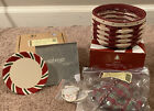 Longaberger Peppermint Twist Basket 4 Coasters Liner Protector And Tie On