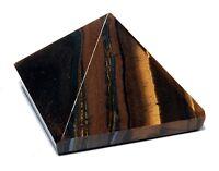 Tiger Eye Pyramid Energy Generator Feng Shui Reiki Healing Spiritual Crystal