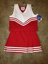 10 Red & White Blank Cheerleading Dress Up uniform Costume NO monogram NWT!