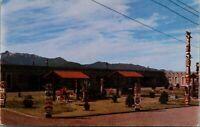 Bowie Arizona~Home on the Range Motel~Totem Poles~Highway 86 Roadside~1950s PC