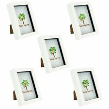 Box Picture Frame Deep 3D Photo Display 4x6 Inch Standing Hanging White x5