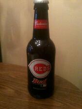 """Huge 15"""" tall bud Budweiser King Pitcher Mlb Cincinnati Reds Glass Bottle"""