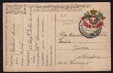 CARTOLINA Militare in franchigia 1917 da PM Intend. Zona Gorizia a Mondovi(FILs)