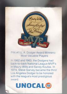VINTAGE L.A. DODGERS UNOCAL PIN (UNUSED) - LA DODGER AWARD WINNERS MVP'S