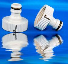 """2x GARDENA Hahnstück G 1"""" 33,3 mm Ideal bei Einsatz von Pumpen Wasserpumpe Pool"""