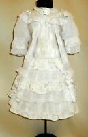 Cotton dress for antique dolls 50-65 cm (20-25 inches).Length 42 cm (16,5 in)