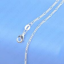 10PCS 28 inch Wholesale Jewelry Lot 925 Silver Figaro Chain Necklace For Pendant