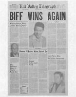 1985 Back To The Future Hill Valley Telegraph > Biff Wins Again > Replica