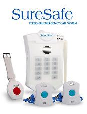 La tva exempt: suresafe personnelle alarme personnes âgées - 2 pendentif & 1 bracelet alarme bouton