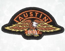 "Austin 2002 Patch - Eagle - Motorcycle - Biker - 4"" x 2 1/8"""