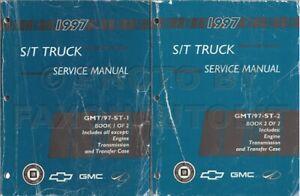 1997 Sonoma Jimmy Bravada Shop Manual Set GMC Pickup Olds Oldsmobile Service