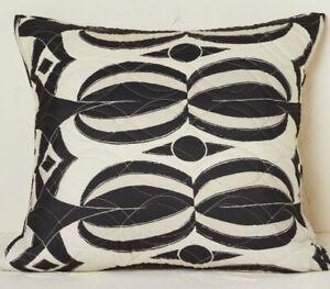 Opalhouse Jungalow Geo Print Stitch Euro Pillow Sham Black New