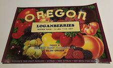 Oregon Loganberries Label Oregon Fruit Products Co Salem Oregon