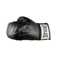 Mike Tyson Autographed Everlast Black Boxing Glove - BAS COA