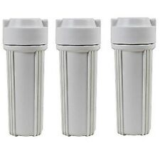 "3 Pc Drinking Water ~ Ro/Di Reverse Osmosis - White Filter Housings ~ 1/4"" Fpt"