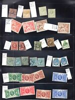 GREAT BRITAIN GEO V STOCK PAGE $425 SCV IDENTIFIED COLLECTION LOT
