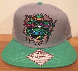 New Teenage Mutant Ninja Turtles Bursting MINI Original Snapback Hat Black