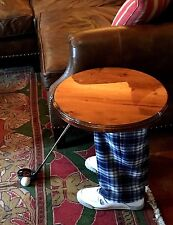 Golfer Side/End Table, Home-Office, Golf Shoes-Pants-Driver, Trophy-Father Gift
