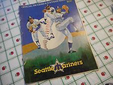 Seattle Mariners 1980 Program & Scorebook Darrell Johnson