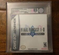 Final Fantasy I & II Dawn of Souls VGA 85 NM+ Silver NIB SEALED NEW! GBA Gameboy