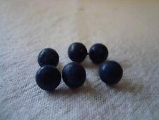 6 Vintage Dark Blue Boot Button - Suit Teddy Eyes