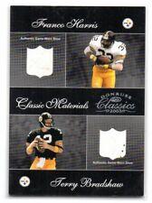 2003 Donruss Classic Materials Shoe Relic CM-34 HARRIS / BRADSHAW Steelers /100