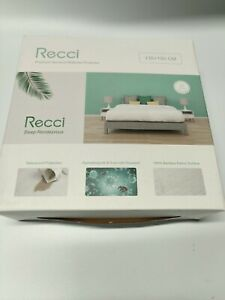 Recci Bamboo Mattress Topper Double Protector Bed Waterproof Damaged Boxes