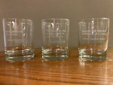 SET OF 3 Old Fashioned Glasses 12.25 Oz. quotes by Dickinson, Stowe, Roosevelt