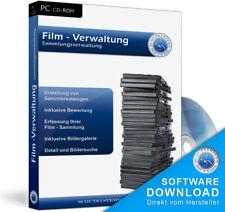 DVD Filme, Bluray,VHS,Schmalfilm  Film Verwaltung,Archivierungsprogramm,Software