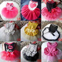 Small Pet Dog Lace Mini Tutu Skirt Dress Puppy Princess Apparel Costume Clothes