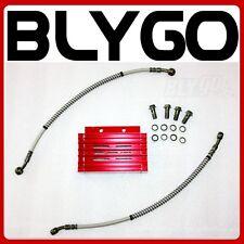 RED CNC Engine Oil Cooler Kit Radiator 125cc 140 150cc PIT PRO Trail Dirt Bike