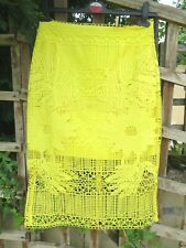 TOPSHOP skirt size 8 Yellow lace lined NEW with tags WAS £65