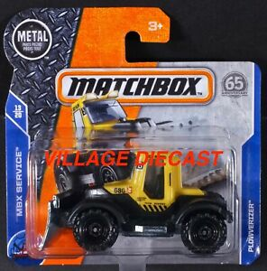 2018 Matchbox #51 Plowverizer™ (Tractor Plow) YELLOW / BLACK / SHORT CARD