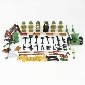 Lego WW2 Minifigures Soldat Américains Set Accessoires Militaire Bataille wwii