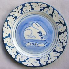1988 Chrismas Plate 46/50 Nash Pottery Dedham RARE LIMITED EDITION