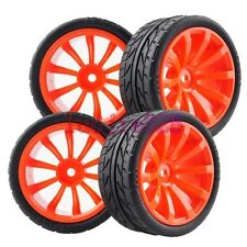6mm offset  RC 1/10 On-Road Car Foam Rubber Tyres Tires &Wheel Rim Red 604-8002