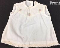 Vintage Baby Dolls Shirt Dress Roses Lace Shabby Clothes Sewing A8