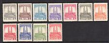 1941 Belgian Congo SC 173-183 King Albert Memorial Set of 11 - MNH**