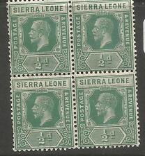 Sierra Leone SG 131 Block of 4 MNH (7cmo)
