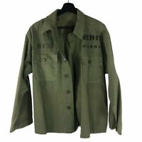 1st Pattern US Army HBT Herringbone Utility Jacket named w/ Medic stencil
