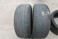 PAIR OF PIRELLI P ZERO ROSSO 255/50/R19 TYRES MO DOT18 *5.5MM NO REPAIRS*